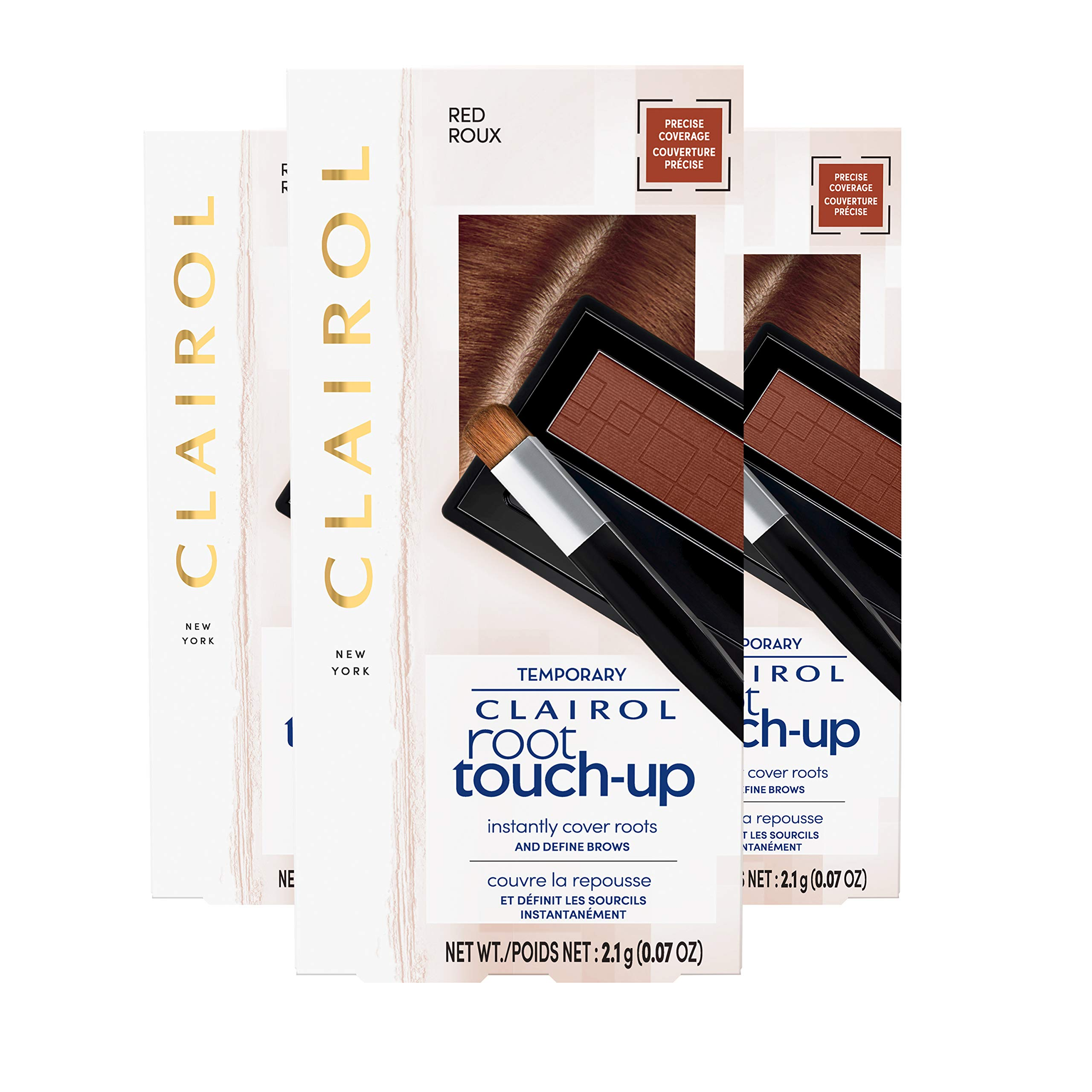 Clairol Root Touch-Up Concealing Powder, Red, 3 Count