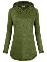 Faddare Womens Long Sleeve Lightweight Activewear Seamless Hoodie Sweatshirt