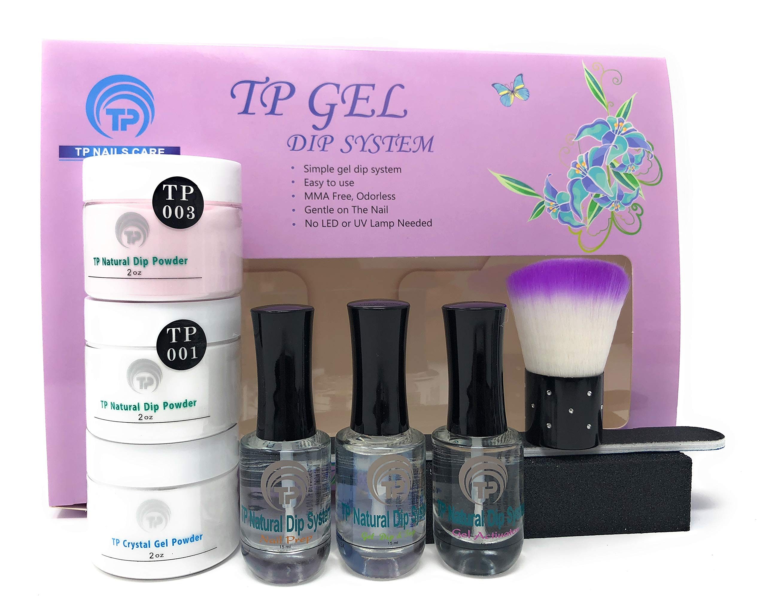 Nail Dipping Powder Kit For French Manicure 2 oz per jar. Easy to use dipping nail powder starter kit.