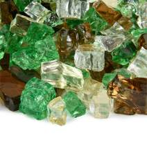 Prairie Gold - Fire Glass Blend for Indoor and Outdoor Fire Pits or Fireplaces | 10 Pounds | 1/2 Inch