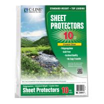 C-Line Biodegradable Poly Top Loading Sheet Protectors, Clear, 8.5 x 11 Inches, 10 per Pack (04917)