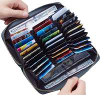 Travelambo Large Capacity Credit Card Wallet Leather RFID Wallet for Women