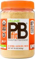PBfit All-Natural Organic Peanut Butter Powder 15 Ounce, Peanut Butter Powder from Real Roasted Pressed Peanuts, Good Source of Protein, Organic Ingredients