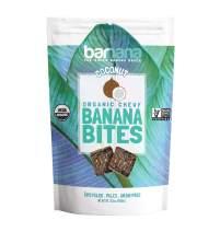 Barnana Organic Chewy Banana Bites - Coconut - 3.5 Ounce - Delicious Barnana Potassium Rich Banana Snacks - Lunch Dinner Sports Hiking Natural Snack - Whole 30, Paleo, Vegan