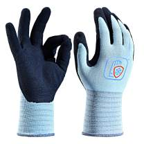 Safeyear Latex Coated Gloves,Gardening and Builders Gloves for Women and Men, Waterproof and Anti-Slip, Work Gloves for Gardening,Cleanig,Builders,Fishing,Construction,Warehouse and DIY Works(Medium)