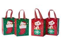 Papyrus Christmas Medium Gift Bag Set, Cat and Dog (4 Bags)