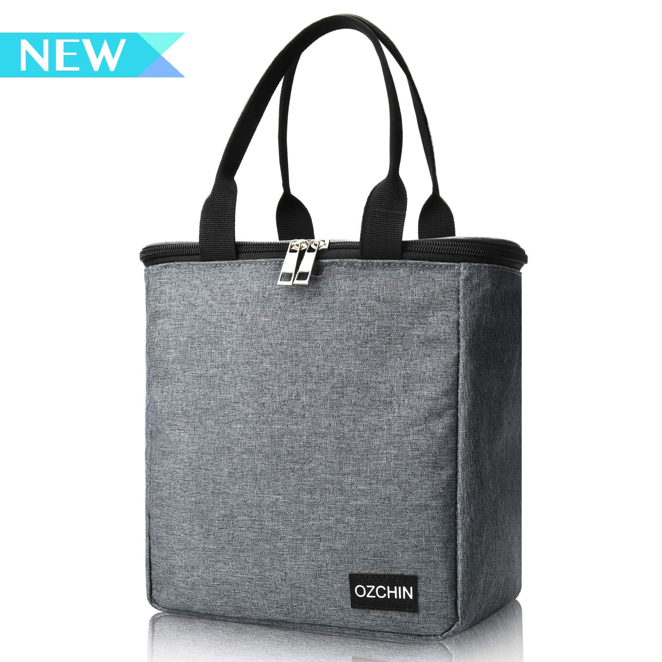 Insulated Lunch Bags For Women Reusable Lunch Tote Cooler Bag Handbag For Picnic Work Great Teacher Appreciation Gifts OZCHIN (Classic Gray)
