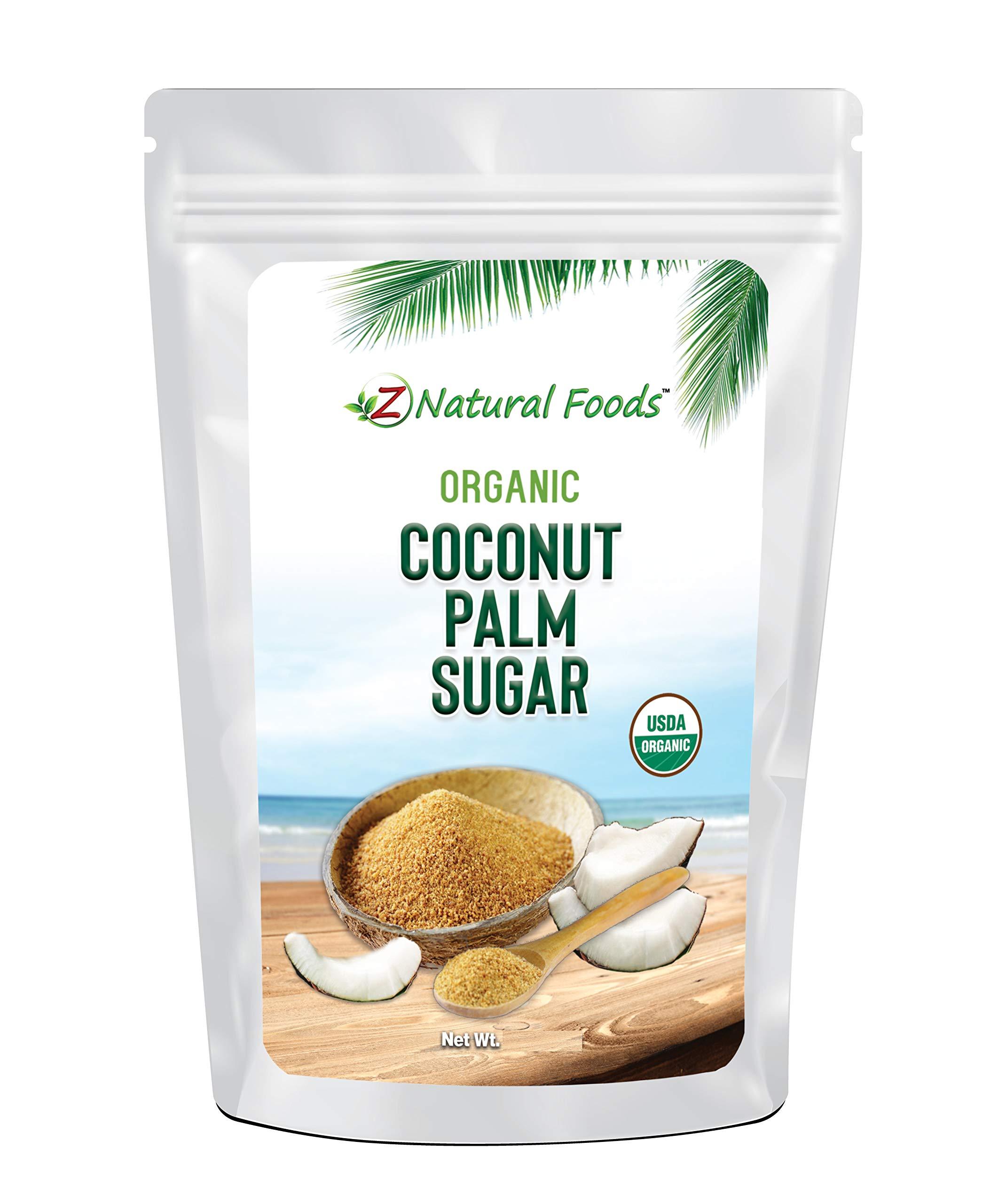 Organic Coconut Palm Sugar - Great For Desserts, Baking, Coffee, Tea, Oatmeal, & More - Unrefined, Vegan, Gluten Free, Non GMO, & Kosher - 3 lb