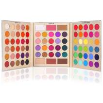 UCANBE Pretty All Set Eyeshadow Palette Holiday Gift Set Pro 86 Colors Makeup Kit Matte Shimmer Eye Shadow Highlighters Contour Blush Powder All In One Makeup Pallet