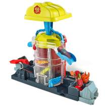 Hot Wheels Super City Fire House Rescue Play Set