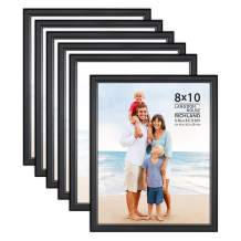 Langdon House 8x10 Picture Frames Set (Black, 6 Pack) Distinguished Edging for Classic Style, Richland Collection
