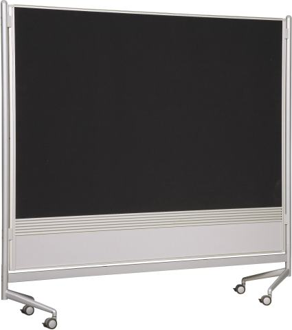 Best-Rite DOC Mobile Whitebooard Room Partition and Display Panel, Dura-Rite Markerboard & Hook and Loop Fabric, 6 x 6 Feet (661AG-HN)