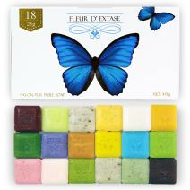Fleur D' Extase (Ecstacy) Soap Gift Set With 18 Bars Of Guest Soaps - All Natural (18 Soaps Gift Set)