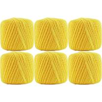 6 Ball Pack Threadart 100% Pure Cotton Crochet Thread - Size 10 - Color 40 - POLLEN GOLD -2 sizes 27 colors available