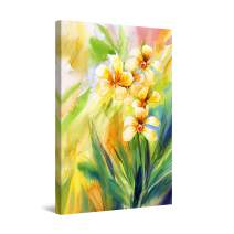 """Startonight Canvas Wall Art Yellow Flowers Waiting for You Large Painting Framed 32"""" x 48"""""""