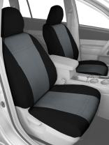 CalTrend Front Row Bucket Custom Fit Seat Cover for Select Kia Optima Models - Carbon Fiber (Charcoal Insert with Black Trim)