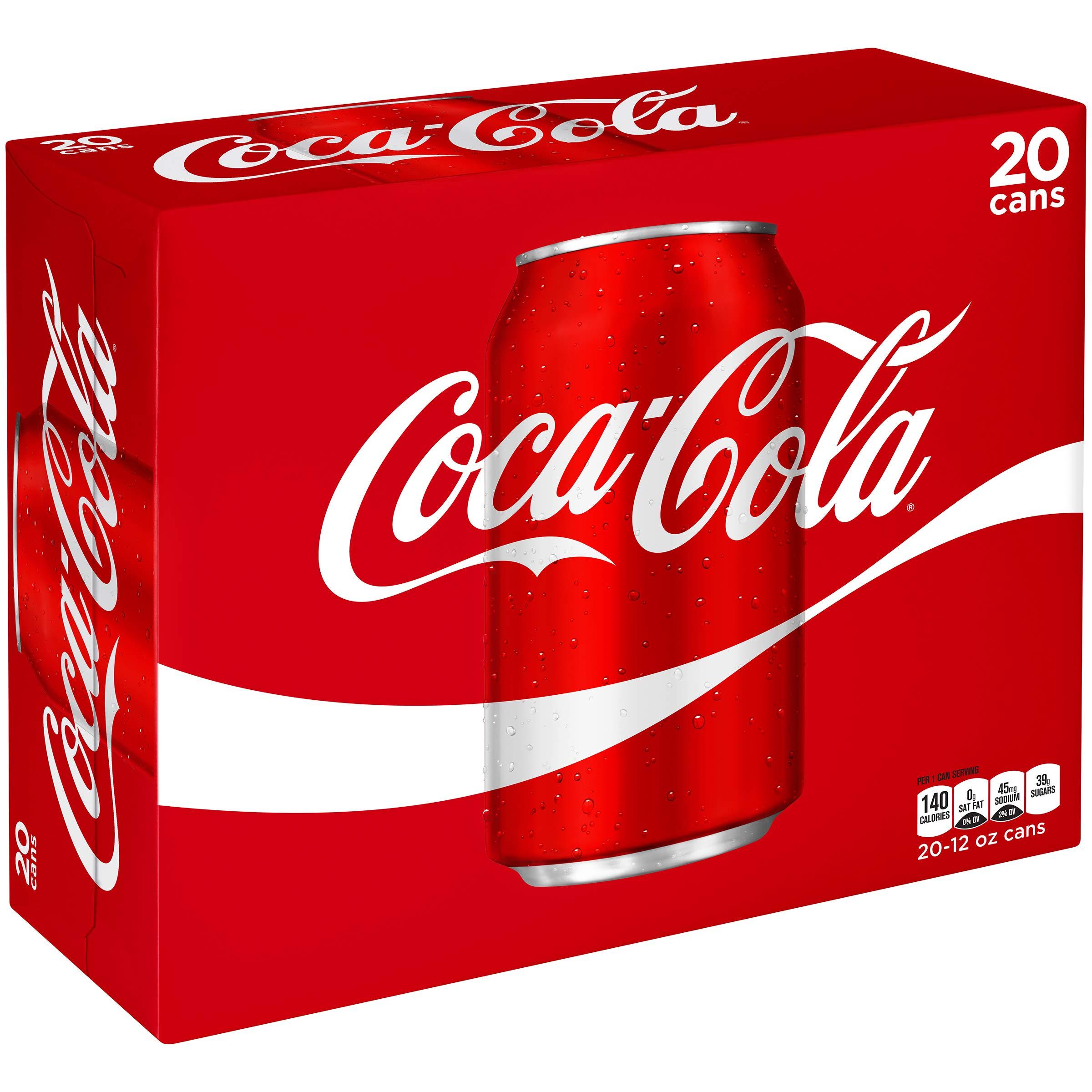 Coca-Cola Soda Soft Drink, 12 fl oz (pack of 20)