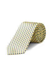ORIGIN TIES Men's Fashion 100% Silk Handmade Painted Spot Easy-matching Pin dots & Plaid Tie