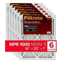 Filtrete 16x20x1, AC Furnace Air Filter, MPR 1000, Micro Allergen Defense, 6-Pack