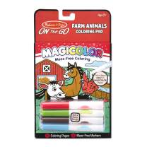 Melissa & Doug On the Go Magicolor Coloring Pad: Farm Animals - 18 Pages, 4 Markers (Great Gift for Girls and Boys - Best for 3, 4, 5, 6, 7 Year Olds and Up)