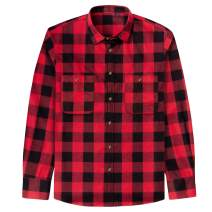 J.VER Men's Flannel Plaid Shirts Long Sleeve Regular Fit Button Down Casual