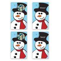 My Scratch Offs Snowman Christmas Holiday Scratch Off Game Cards - 2 x 3.5 Inches - 25 Pack