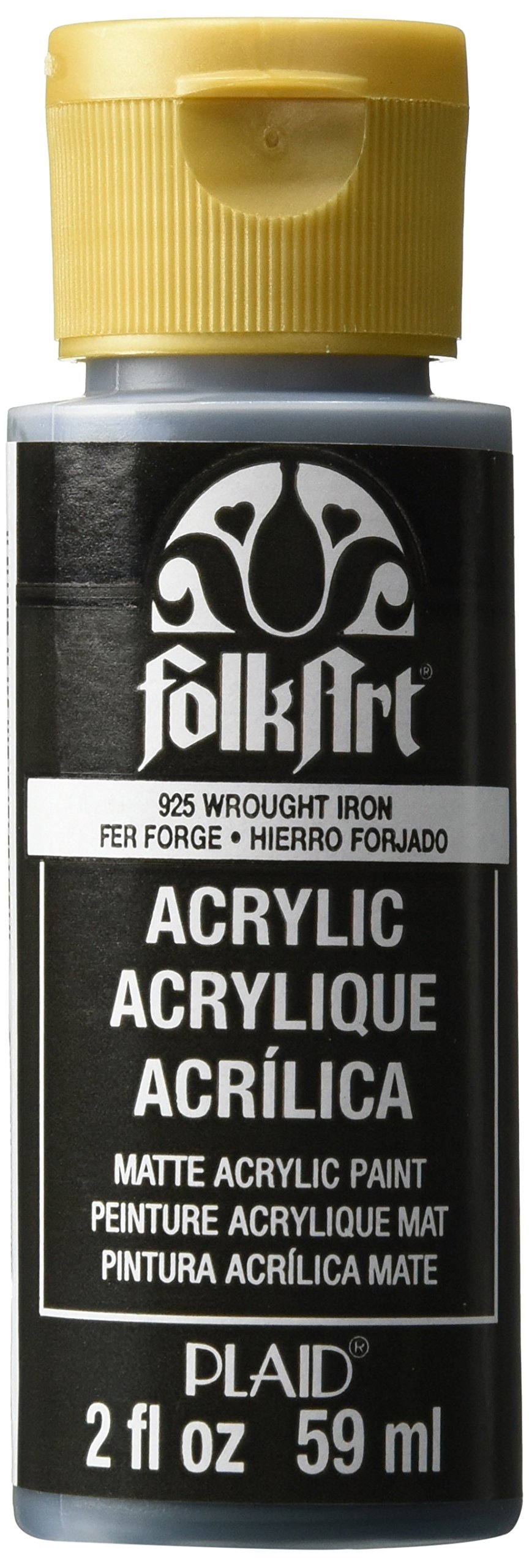 FolkArt Acrylic Paint in Assorted Colors (2 oz), 925, Wrought Iron