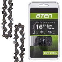 8TEN Chainsaw Chain for Husqvarna 42 50 36 41 240 440 49 44 Jonsered Echo 16 Inch Bar .050 Guage .325 Pitch 66DL