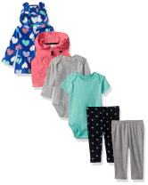 Carter's Girls' 6-Piece Jacket and Vest Set