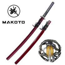 "MAKOTO Handmade Sharp Japanese Katana Samurai Sword 40"" - Serpent Cobra Snake Tsuba"