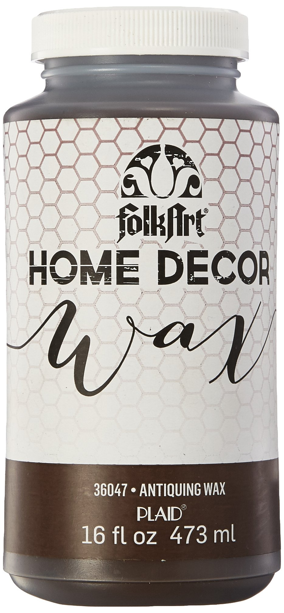 FolkArt 36047 Home Decor Chalk Furniture & Craft Paint in Assorted Colors, 16 ounce, Antique Wax