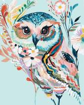 Acrylic Paint by Number Kit On Canvas for Adults Beginner 16X20 Inch Give for Mother (Rainbow Owl)