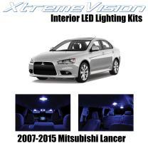 Xtremevision Interior LED for Mitsubishi Evo Lancer 2007-2015 (8 Pieces) Blue Interior LED Kit + Installation Tool