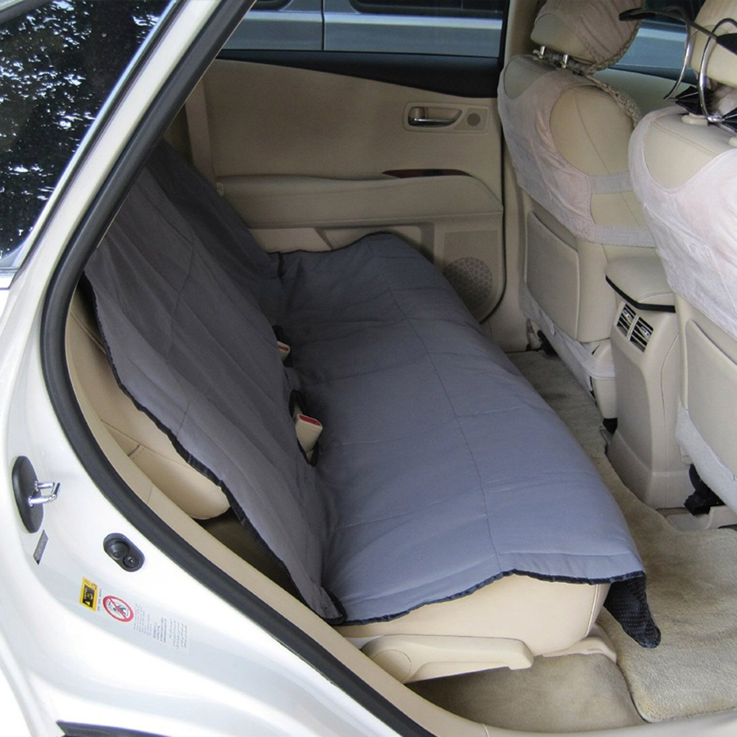 Yes4All Waterproof Hammock Back Seat Cover for Pets. Quilted - MS-011 Gray - ²PUDPZ