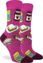 Good Luck Sock Women's Peanut Butter & Jam Socks - Purple, Adult Shoe Size 5-9