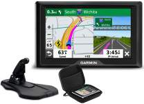 "Garmin Drive 52 GPS Vehicle Navigator | 2019 Model | Bundle with Premium Dashboard Friction Mount & PlayBetter Hard Protective Case | No Traffic, Voice Directions, Easy-to-Read 5"" Display"