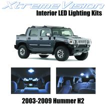 Xtremevision Interior LED for Hummer H2 2003-2009 (15 Pieces) Cool White Interior LED Kit + Installation Tool