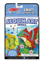 Melissa & Doug On-The-Go Crafts Animals Sequin Art (Great Gift for Girls and Boys - Best for 5, 6, 7, 9, 10 Year Olds and Up)