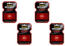 """Scotch 414p-St 1"""" X 3"""" Red Scotch Extremely Strong Mounting Strips"""
