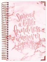 """HARDCOVER bloom daily planners 2020-2021 Academic Year Day Planner Calendar (July 2020 - July 2021) - 6"""" x 8.25"""" - Passion/Goal Organizer - Monthly/Weekly Inspirational Agenda Book - Pink Marble"""