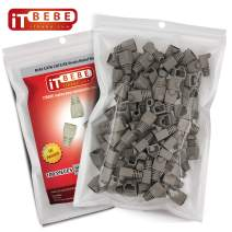 ITBEBE Grey RJ45 Strain Relief Boot Covers 100-Count Set for Cat5 Cat5e, and Cat6 Ethernet Connectors