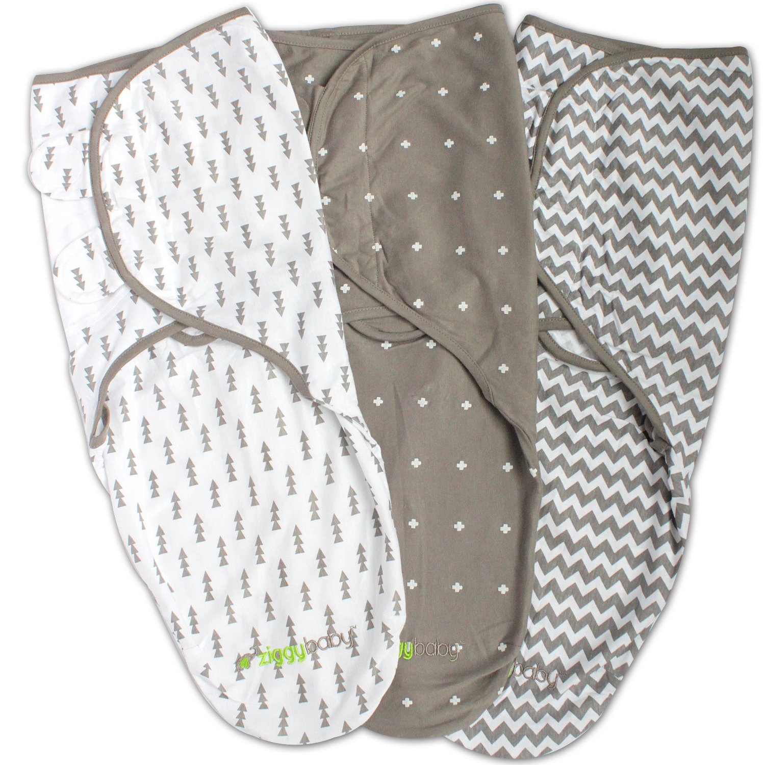 Swaddle Blanket, Adjustable Infant Baby Wrap, Soft Cotton in Ultra Grey