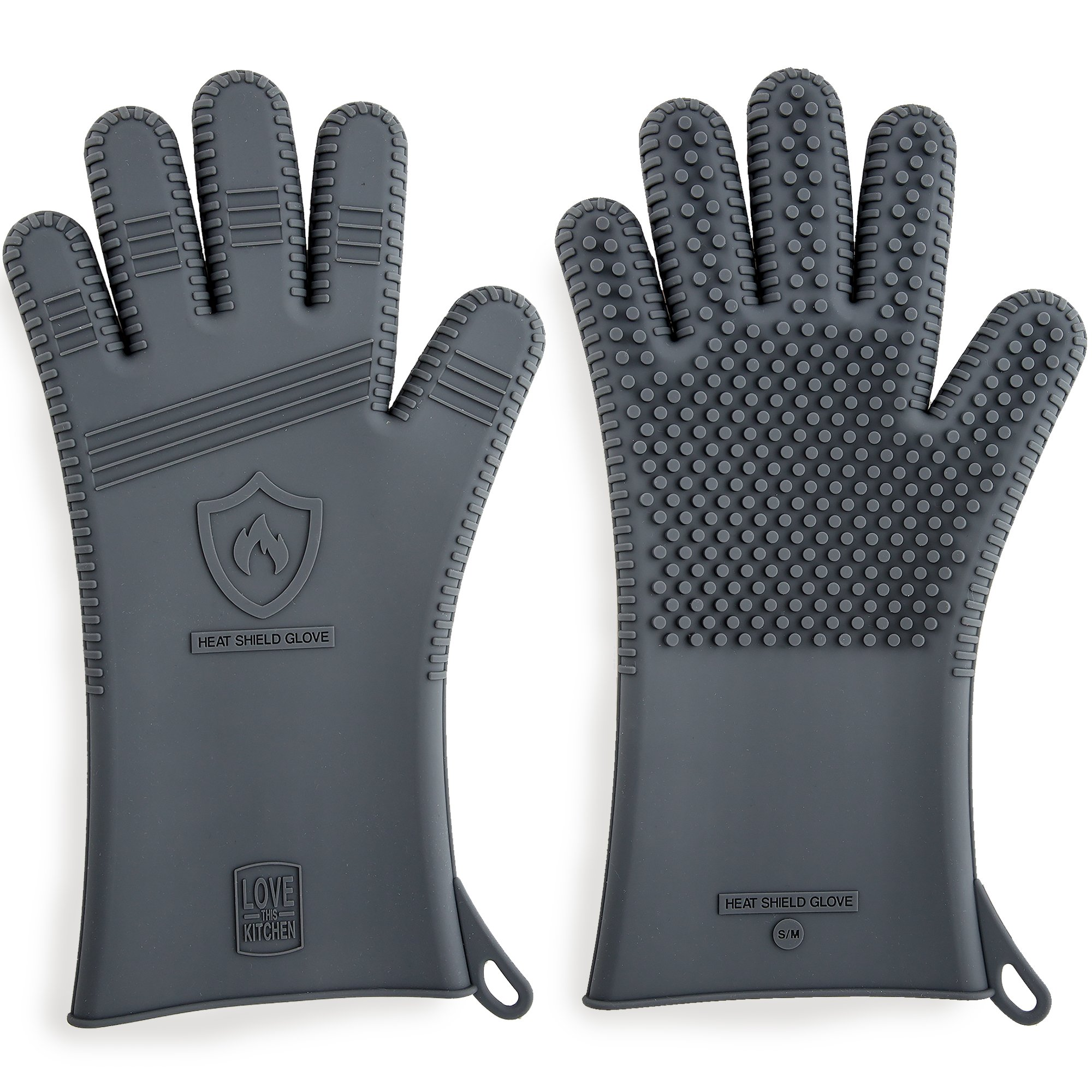 Premium Silicone BBQ Gloves & Grill Gloves in Attractive Gift Box. 13.5 inch Long for Better Protection. These Grilling Gloves are Best For Barbecue & Oven, Heat Resistant to 442 F (Size: XL, 1 Pair)