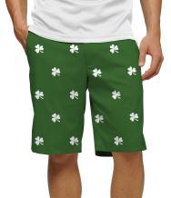 Loudmouth Golf - Cotton/Spandex Blend - John Daly Shamrocks Men's Short-Knee Length