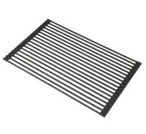 STYLISH Over the Sink Roll-Up Dish Drying Rack   Trivet   Heat Resistant   Drying Dishes and Rinsing Vegetables   Black   A-900BK