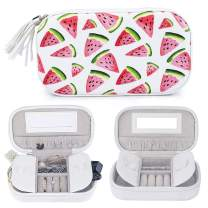 besharppin Jewelry Zipper Case,Watermelon Portable Travel Jewelry Box Display Organizer Storage Case for Earrings Necklace Rings Case