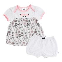 Just Born Baby Girls' Up in The Clouds 2-Piece Polo Shirt and Shorts