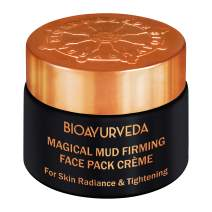 BIOAYURVEDA Magical Mud Firming Face Pack Cream, Organic - Fuller Earth, Vitamin C| Face Mask for Skin Tightening and Firming | Moisturizer for Face Lifting, Acne, Wrinkles, Patches & Spots(1.4 oz)