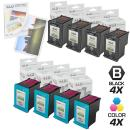 LD Remanufactured Ink Cartridge Replacements for HP 98 & HP 95 (4 Black, 4 Color, 8-Pack)