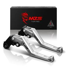 MZS Short Levers Adjustment Brake Clutch CNC Compatible with Triumph 765 Street Triple R (NOT RS) 17-18  Speed Triple 1050 1050S 16-18  Speed Triple R 16-18  Thruxton R (NOT Thruxton) 16-18 Silver